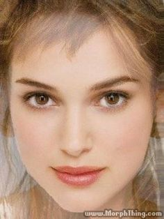 Natalie Portman,Winona Ryder, and Keira Knightly Morphed in to one. They look like the same person. Freakin Freaky. lol. I <3 them all.