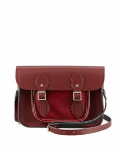 "11"" or 13"" Leather Satchel, Oxblood by Cambridge Satchel Company"