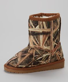 Loving this Tan Mossy Oak Camo Boot on #zulily! #zulilyfinds