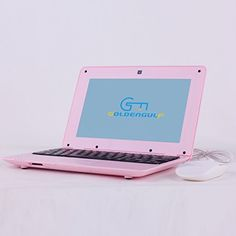 "Goldengulf 10"" inch Mini LAPTOP Netbook Android Computer Notebook Wifi 3G Camera (pink) Goldengulf"