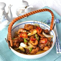 Pork with Garlic, Onions and Chili