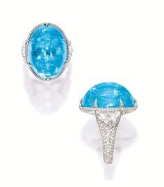 Paraíba tourmaline and diamond ring, Martin Katz - Sotheby's