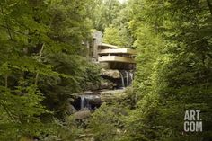 Fallingwater a Modernist House Was Designed by Frank Lloyd Wright in 1934 Premium Poster at Art.com