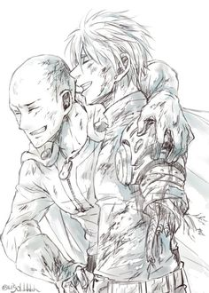 One Punch Man - Saitama and Genos