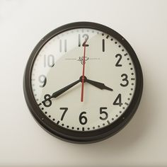 """Schoolhouse Electric Clock 17.5"""" 