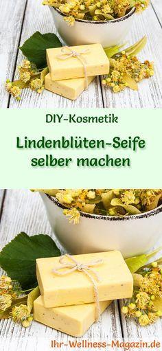 DIY-Seifen-Rezept: Lindenblüten-Seife selber machen - Lindenblütenextrakt beruhigt empfindliche Haut und schenkt ihr Frische und Feuchtigkeit. #diy #seife #selbermachen