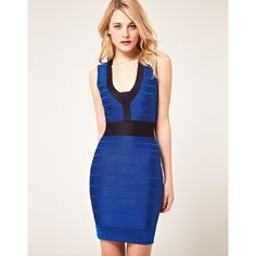 French Connection Body-Conscious Dress With Contrast Panel
