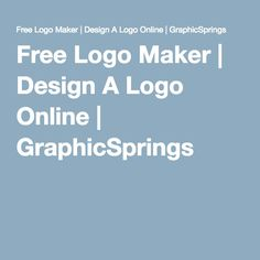 Free Logo Maker | Design A Logo Online | GraphicSprings