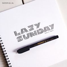 Lazy sunday #lettering #paperfuel