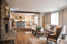 Fixer Upper Style: grays and wood tones