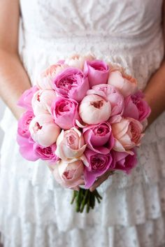 wedding bouquets with pink peonies | Tagged: pink and yellow bouquet , Pink peonies