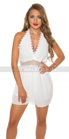 Overál, nyitott hátú szuper szexi - fehér Anyaga: 95% Polyester / 5% Elastane  Egyméret (onesize), ami xs-m méretig jó! Farmer, Rompers, Dresses, Fashion, Vestidos, Moda, Fashion Styles, Romper Clothing, Farmers