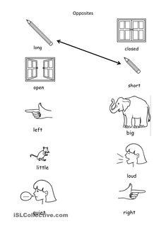 Image result for opposites activities preschool