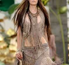 Something Daenerys might wear while riding with her khalasar, by Roberto Cavalli.