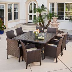 Woodcliff 7 Piece Dining Set | Patio | Pinterest | Dining Sets, Sunbrella  Fabric And Armchairs