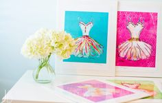 Easter gift ideas | Watercolor dress prints
