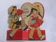 vintage Valentines Day circa 1930s sweetheart sailor by roseluv, $5.00
