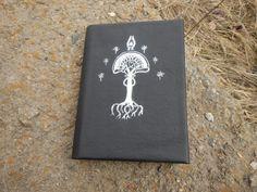Leather nhandmade notebook Elven tree, Блокнот с кожаной обложкой Эльфийское дерево by RozaBracelets on Etsy