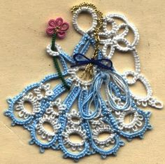 NeedleTatting.Proboards.com: Riet's Martina Angel by Riet Surtel-Smeulders (must login to see pattern) #tatting