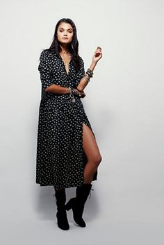 Free People Hearts All Over Maxi Shirt Dress at Free People Clothing Boutique