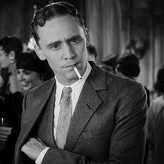 Tom Hiddleston as F.Scott Fitzgerald
