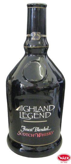 Highland Legend Scotch Whisky Ceramic Decanter.