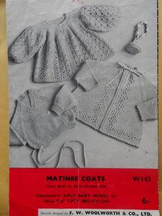 PDF File 3 Vintage Matinee Coats Knitting Pattern on Etsy, £1.49