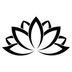 simple lotus stencil - Google Search