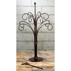 Dark Brown 12 Arm Ornament Tree-12 inch