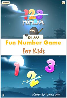 a number game app helping kids recognize numbers and improve hand-eye coordination. Like Fruit Ninja? You will like 123 Ninja. #kidsapps #MathApps