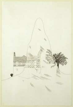 'THE GLASS MOUNTAIN' FROM ILLUSTRATIONS FOR SIX FAIRY TALES FROM THE BROTHERS GRIMM 1969, David Hockney