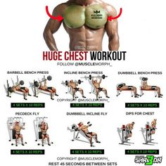Want a HUGE Chest? Try this workout SAVE it so you can use it at the gymLIKE and FOLLOW @musclemorph_ for more exercise & nutrition tips TAG A GYM BUDDY . Try it along MuscleMorph's Most Electrifying Pre Workout SHR3DR, you wont regret it!  click the link in our bio to get yours today @musclemorph_ ➡MuscleMorphSupps.com #MuscleMorph  via ✨ @padgram ✨(http://dl.padgram.com)