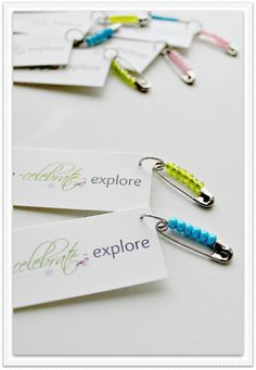 Business Cards and Friendship Pins