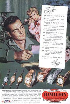 Hamilton Vintage Christmas Ad