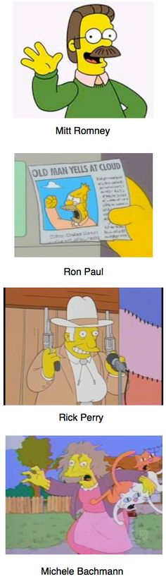 If the Republican frontrunners were Simpsons characters…