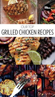 Our Top Grilled Chicken Dishes | MyRecipes.com  The best of the best, these chicken recipes were simply made for the grill.