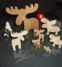 Elche, Sterne und Weihnachtsbäume - eine Sägespende zum Advent...