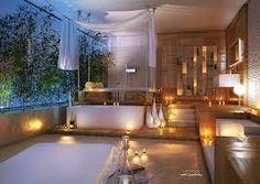 Luxury Bathroom Ideas - Dream Bathroom Designs in Modern Homes Luxury Hotel Bathroom, Bathroom Design Luxury, Bathroom Spa, Bathroom Designs, Open Bathroom, Bathroom Lighting, Bathroom Ideas, Nature Bathroom, Wood Bathroom
