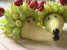 Egel Fruit Traktatie - Hedgehog Fruit Treat #DIY