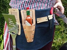 You've heard of tool belts; how about a grill belt? Not a bad idea.