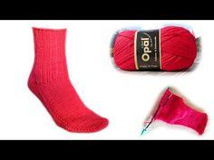 Die 2 Nadel Socke Strickanleitung - Woolpedia® - YouTube