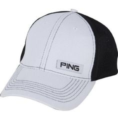 Ping Sport Mesh Cap (White/Black, Structured, LIMITED EDITION 2012) Hat NEW by Ping. $18.95. Headwear Specifications:COMPANY / BRAND: Ping MODEL: Sport Mesh Cap (Limited Edition)MODEL SPECIFICS: Ping Woven label on the front, 100% performance polyester, structured front, contrast stitching, adjustable rear velcro strapSIZE: One size fits allCONDITION: New CONDITION SPECIFICS: New condition 10, nice hat! Limited Edition 2012 Cap!!!