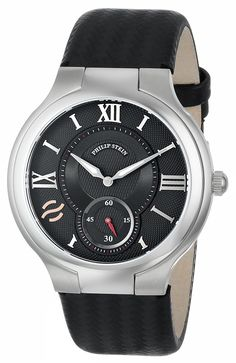 Philip Stein Men's 42-BK-BB Round Black Dial Ballistic Black Strap Watch >>> Visit the image link more details.