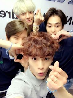 Chen, Baekhyun, Chanyeol and Xiumin | 150515 KOLON SPORT Twitter Update