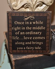 Fairy tale wedding sign.  See more castle wedding favors and party ideas at www.one-stop-party-ideas.com