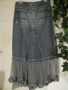 Cute jean skirt!