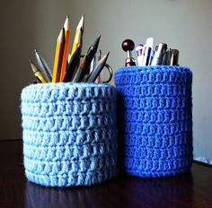 crochet pencil holders more crochet pencil crochet accessories pencil ...