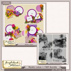 New Release and Free With Purchase: Mystic Lotus and Grunge It Up v6 by Angelclaud Artroom. . Now on sale at 25% off. You can also buy the Overlays alone. Visit her shops at Gotta Pixel and Oscraps