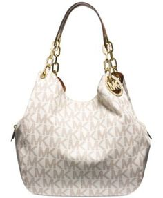 MICHAEL Michael Kors Fulton Large Shoulder Tote $398.00 A gilded logo medallion…