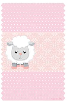 Baby Lamb in Pink: Free Printable Candy Bar Labels and Free Printable Invitations. - Oh My Baby! Otoño Baby Shower, Baby Shower Invites For Girl, Baby Shower Parties, Baby Lamb, Baby Shawer, Free Printable Invitations, Free Printables, Scrapbook Bebe, Baby Girl Clipart
